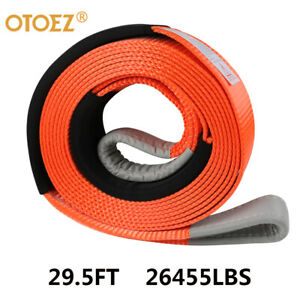 3 X30 Heavy Duty Recovery Tow Strap Rope 26 000lb For Car Truck Jeep Atv Suv