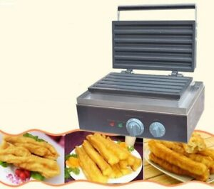 220v Electric Non stick Churros Making Machine Deep fried Dough Sticks Baker