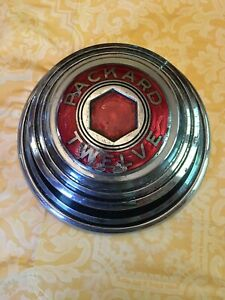 Packard Twelve Hub Cap Original Great Patina Rare