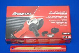 New Snap on 18v Monsterlithium Cordless Grinder Cutoff Kit W Ctb8187 Battery