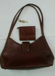 FOSSIL Brown Leather Women's Shoulder Bag Purse With Wallet $44.99