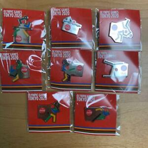 Tokyo 2020 Olympic x Coca-Cola Pin badge Pins 8 complete set not for sale item