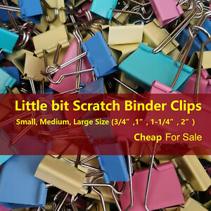 Binder Clips Colored Metal Clamp Little Bit Scratch Binder Clips Cheap For Sold