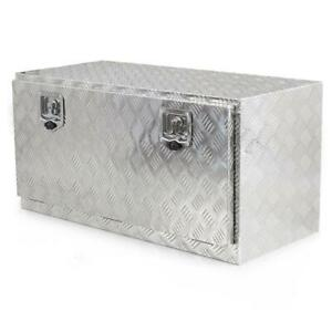 36 Aluminum Tool Box Storage For Truck Pickup Bed Trailer Tongue W Lock Silver