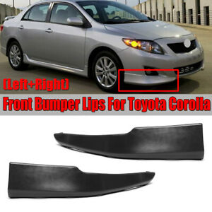 For 09 10 Toyota Corolla S Factory Style Body Kit Front Bumper Lips L r 2pcs Set