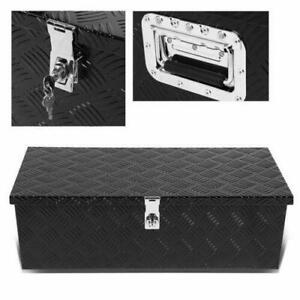 30 Black Pickup Trailer Trunk Bed Utility Storage Flat Aluminum Tool Box Lock