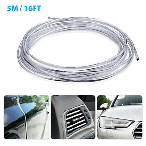 16feet 5metres Chrome Car Door Edge Guard Molding Trim Protector Strip U Shape