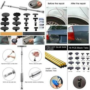 Paintless Dent Repair Puller Kit Dent Puller Slide Hammer T bar Tool 16pcs