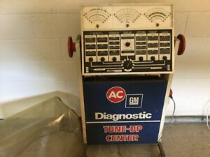 Vintage Ac Delco Diagnostic Tune Up Center Gas Station Man Cave Garage S w Minn