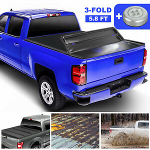 5 8ft Tonneau Cover For 09 19 Ram 1500 Truck Bed 3 Fold Not For Rambox Stepside