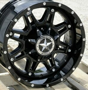 18 Gloss Black Lonestar Outlaw Wheels 18x9 8x170 0mm Ford F250 F350 Excursion