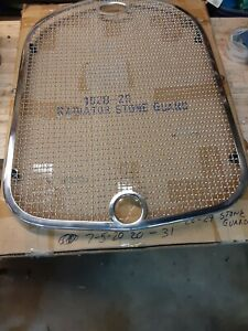 Ford Model A Radiator Stone Guard Polished Stainless Steel 1928 1929