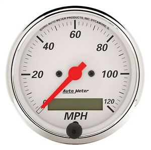 Autometer 1388 Arctic White Electric Programmable Speedometer