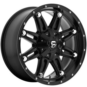 4 Fuel D531 Hostage 17x8 5 5x110 38mm Matte Black Wheels Rims 17 Inch