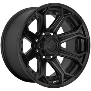 4 fuel D706 Siege Platinum 22x10 8x180 18mm Matte Black Wheels Rims 22 Inch