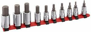 Wright Tool 311 3 8 1 2 Drivers 10 Pieces Hex Socket Set