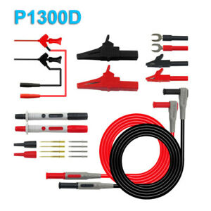 P1300f Electronical Multimeter Probe Alligator Clips Test Hook 4mm Banana Plugs