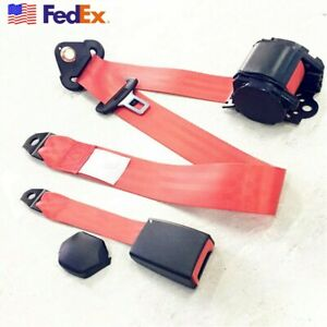 Car Truck 3point Seat Belt Safety Extra Quick Release Adjustable Straps Us Stock