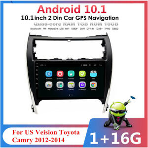 For 2012 2014 Toyota Camry Us Car Stereo Radio 10 1 Android 10 1 W Canbus
