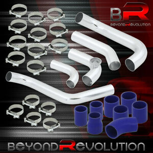 For 2006 2011 Honda Civic R18a1 Turbo Fmic Intercooler Polished Pipe Kit Clamps