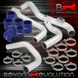 For 1994 1997 Honda Accord F22b F23a 2 2l Intercooler Polished Piping Kit Clamps