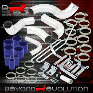For 1993 1997 Mazda Rx 7 Intercooler Piping Set Clamps Kit W Blue Coupler Set
