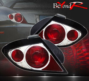 03 04 05 Pontiac Sunfire Rear Stop Brake Driving Running Tail Lights Lamp Chrome