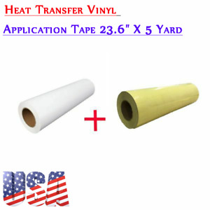 Us 23 6 x5 Yard Eco solvent Printable Heat Transfer Vinyl With Application Tape