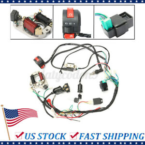 CDI Wire Harness Wiring Loom Coil Rectifier Kit For 50cc-125cc ATV Electric Quad