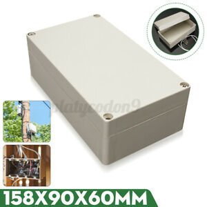 6 2 Abs Plastic Electronics Project Box Enclosure Hobby Case Screw Waterproof