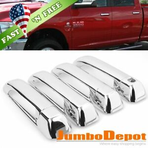 Us Chrome Side Door Handle Cover 4dr Fit For Dodge Ram 1500 2500 3500 10 17