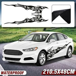 2pcs 6 91x1 58ft Car Body Flame Decal Vinyl Graphics Side Stickers Waterproof Us