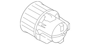 Genuine Volvo Hvac Blower Motor Assembly 31291516