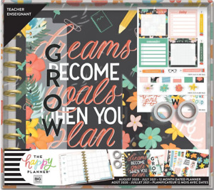 New Dreams Goals 20 21 Big Teacher Box Kit Happy Planner Create 365 Mambi Nib