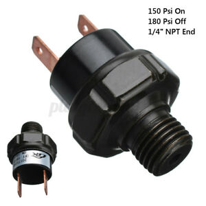 150 180psi Air Pressure Switch Tank Mount Thread 1 4 Npt 12 Volt For Train Horn