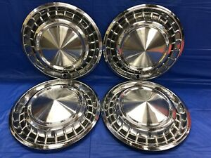 Vintage Set Of 4 1958 Plymouth 14 Hubcaps Belvidere Savoy Plaza Mopar Good Cond