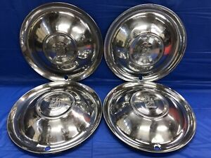 Vintage Set Of 4 1951 52 Plymouth 15 Hubcaps Belvedere Cambridge Cranbrook