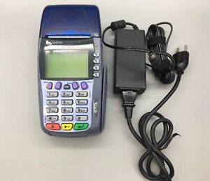 Verifone Omni 3750 Credit Card Terminal Reader Works Power Cord Fast Ship C11