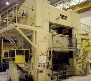 600 Ton Press For Sale Mechanical Straight Side Double Crank Warco 96 X 48