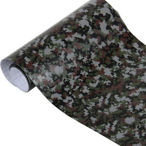 12 24 X 60 Camo Camouflage Vinyl Wrap Decal Sheet Film Sheet Roll Air Release
