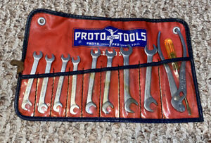 Proto No 3200 D Set Ignition Wrench Set W Pouch Great Condition