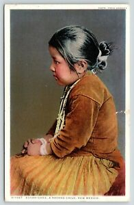 New Mexico~Zuyah Chee~Navajo Child~Indian Girl~1928 Detroit Publ