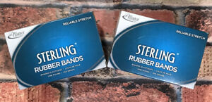 Alliance Sterling Rubber Bands 2 Boxes 107 7 X 5 8 50 Bands 1lb Box 25075 new