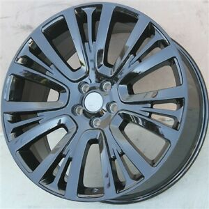 Set 4 22 22x9 5 New Wheels 5x120 Gloss Black Range Rover Sport Supercharge