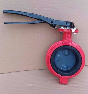 6 Inch Butterfly Valve Wafer Ductile Iron Body Nylon Disc Buna n Seat 416 Stem