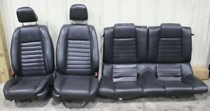2007 2009 Ford Mustang Gt500 Black Leather Front Rear Seat Set Used Oem