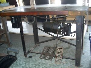 Industrial Sewing Machine Table Antique Vintage Solid Wood Union Special