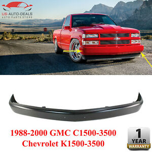 Front Bumper Steel Paintable For 1988 2000 Gmc C1500 3500 Chevrolet K1500 3500