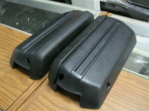 Chevelle El Camino Monte Carlo Cutlass Pair Of Black Armrest Pads Bases 68 72
