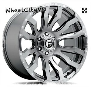 20 X10 Platinum Fuel Brushed Blitz D693 Rims Fits Lifted Ford F150 Raptor 6x135